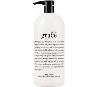 philosophy super-size pure grace perfumed body lotion 32oz. - A10624