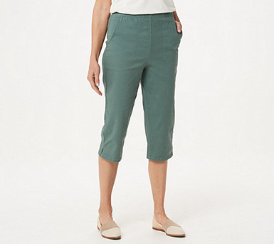 Denim & Co. Original Waist Stretch Capri Pants with Side Pockets - A14924