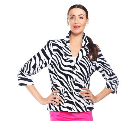 Joan Rivers Joan Rangers Zebra Print Jacket