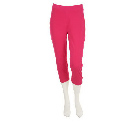 Susan Graver Stretch Knit Pull-on Capri Leggings - Page 1 — QVC.com