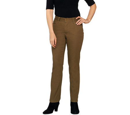 "Women with Control ""My Wonder Jean"" Petite Slim Leg Jeans"