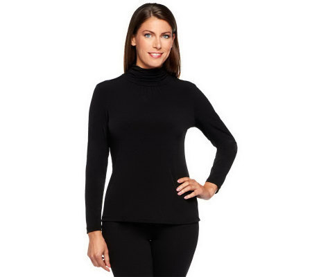 """As Is"" Susan Graver Essentials Liquid Knit Long Sleeve Top"