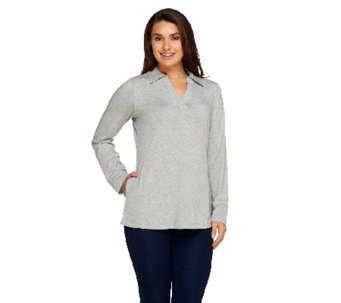 Denim & Co. Active Regular Roll-Tab Sleeve Knit Tunic - A258024