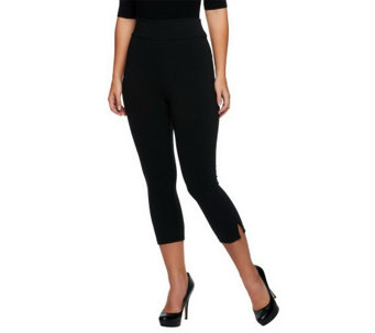 """As Is"" LOGO by Lori Goldstein Knit Pull-On Pants with Slit Detail - A260724"