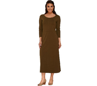 Liz Claiborne New York Essentials 3/4 Sleeve Maxi Dress - A267424