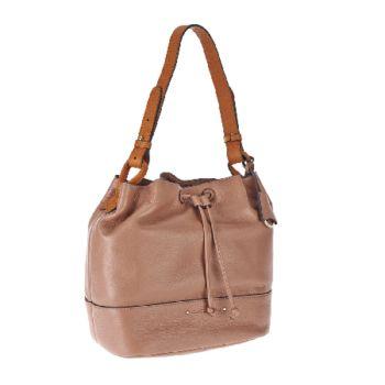 Isaac Mizrahi Live! Nolita Pebble Leather Bucket Bag