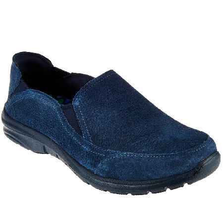 Skechers Suede 4-gore Relaxed Fit Slip-on Shoes - Relaxed Living