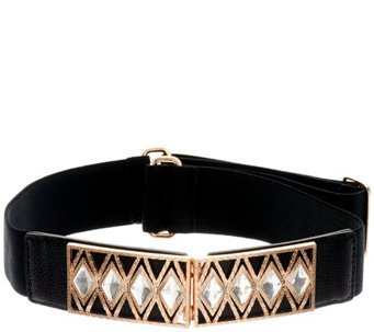 Susan Graver Stretch Belt with Embellished Buckle - A270324