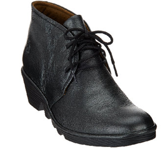 FLY London Leather Lace-up Ankle Boots - Pert - A270824