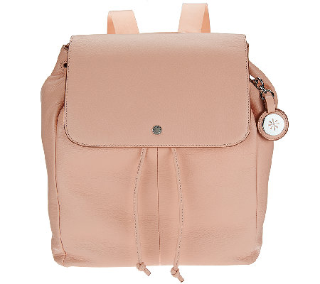 Isaac Mizrahi Live! SOHO Pebble Leather Backpack