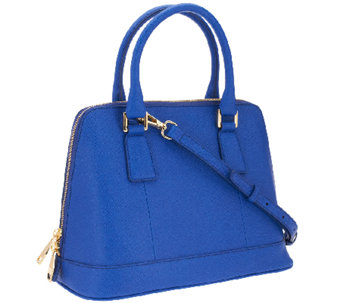 """As Is"" Marc Fisher Eleanor Leather Zip Top Dome Satchel - A271324"