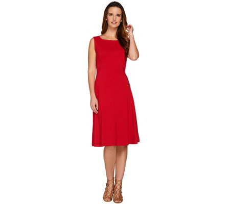Susan Graver Dolce Knit Sleeveless Dress