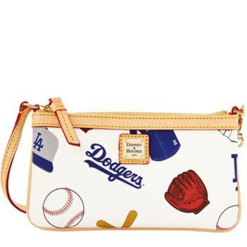 Dooney & Bourke MLB Dodgers Large Slim Wristlet