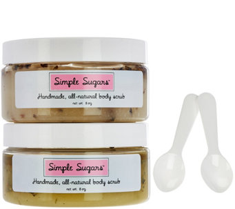 Simple Sugars Set of 2 Sugar Scrubs 8 oz. - A280324