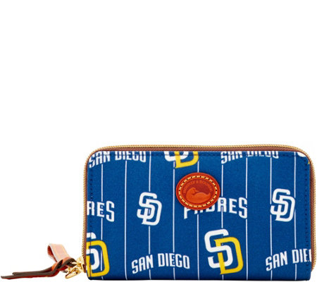 Dooney & Bourke MLB Nylon Padres Zip Around Phone Wristlet
