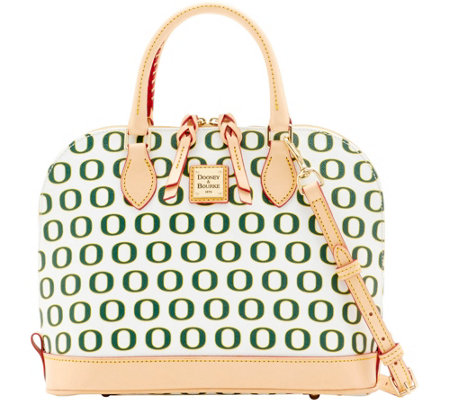 Dooney & Bourke NCAA University of Oregon Zip Zip Satchel