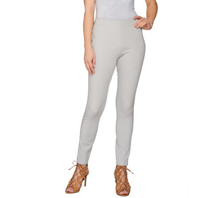 """As Is"" Attitudes by Renee Stretch Knit Pull-on Ankle Pants"