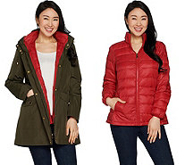 Susan Graver 3 in 1 Anorak Jacket and Puffer Coat - A299324