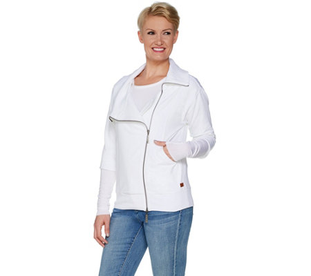 Peace Love World Amal Jacket with Asymmetric Zipper Front