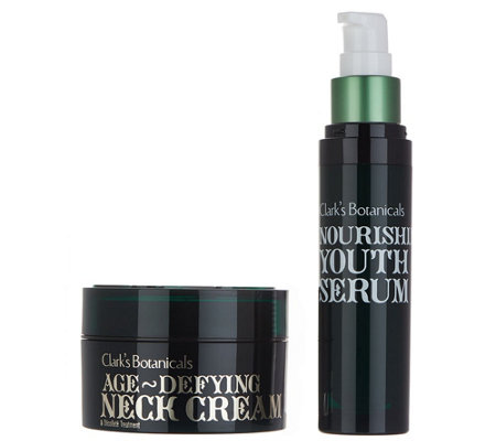 Clark's Botanicals Age Defying Neck Cream & Youth Serum