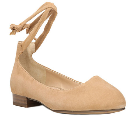 Franco Sarto Flats with Ankle Strap - Becca