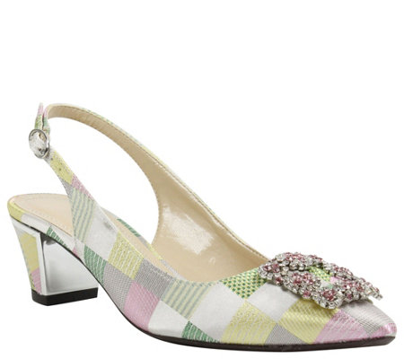 J. Renee Mid Heel Slingbacks - Charee
