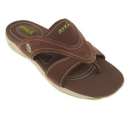 Ryka Comfort Thong Sport Sandals with Center Goring