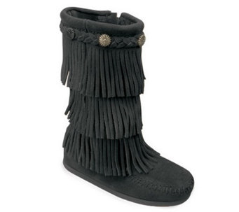 Minnetonka Children's 3 Layer Fringe Boots - A209225