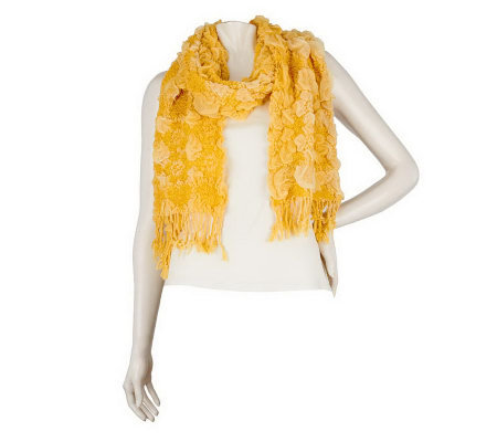 Layers by Lizden Bubble Wrap Scarf with Fringe