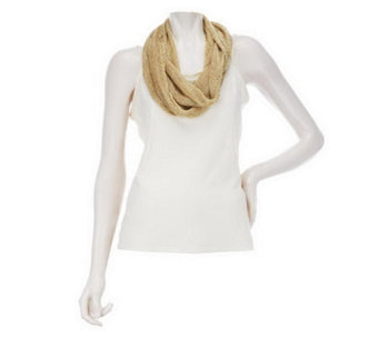 Liquid Mesh Infinity Scarf by VT Luxe - A224125