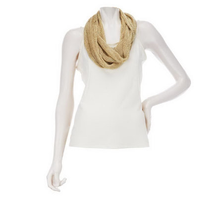 Liquid Mesh Infinity Scarf by VT Luxe