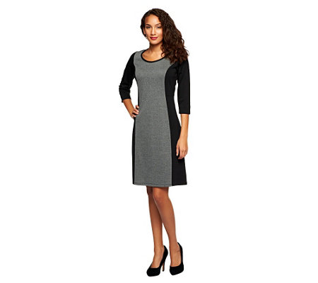 Liz Claiborne New York Regular Herringbone Knit Dress