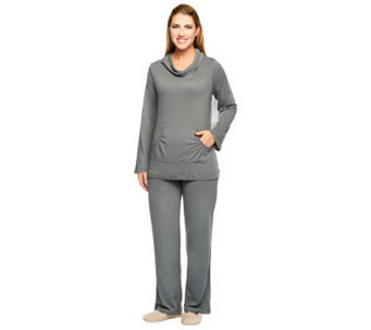 Stan Herman Solid Brushed Jersey 2-Piece Loungewear Set - A237725