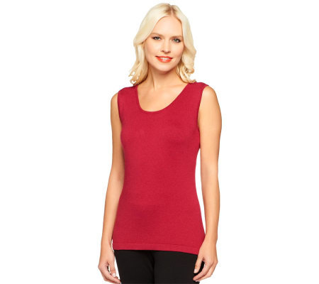 Linea by Louis Dell'Olio Posh Knit Scoop Neck Tank Sweater
