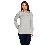 Denim & Co. Active Petite Roll-Tab Sleeve Knit Tunic - A258025