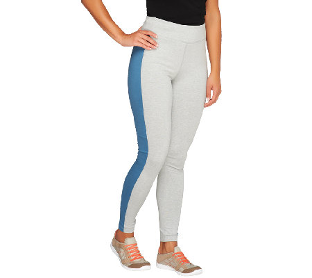 Denim & Co. Active Duo-Stretch Leggings w/ Side Panels