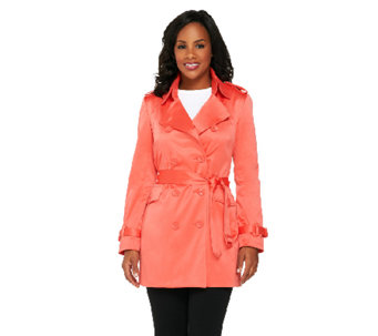 Joan Rivers Classic Tailored Trench Coat - A260625