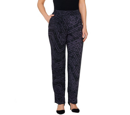 LOGO by Lori Goldstein Regular Printed Challis Pants