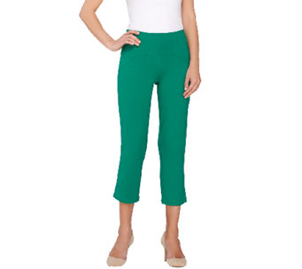 Women with Control Regular Arched Waist Knit Crop Pants - A265425