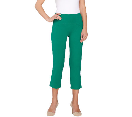 Women with Control Regular Arched Waist Knit Crop Pants