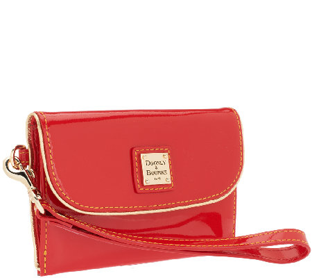 """As Is"" Dooney & Bourke Highland Medium Wristlet Clutch"