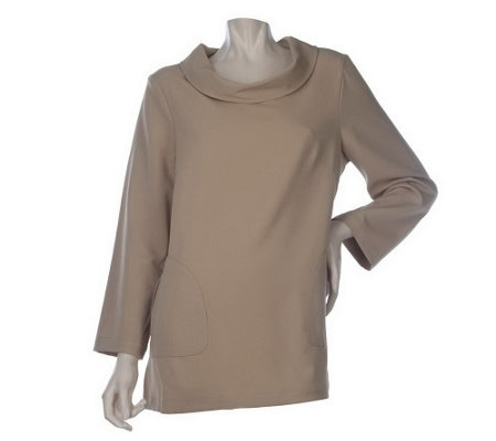 """As Is"" Linea by Louis Dell'Olio 3/4 Sleeve Tunic w/ Pocket Detail"