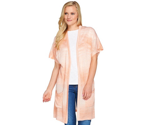 Studio By Denim & Co. Open Front Short Dolman Sleeve Cardigan