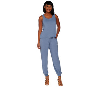 Lisa Rinna Collection Regular Banded Bottom Knit Jumpsuit - A278425