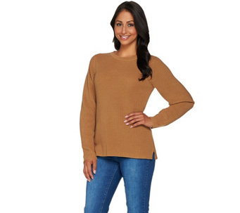 Linea Leisure by Louis Dell'Olio Ribbed Sweater - A279525