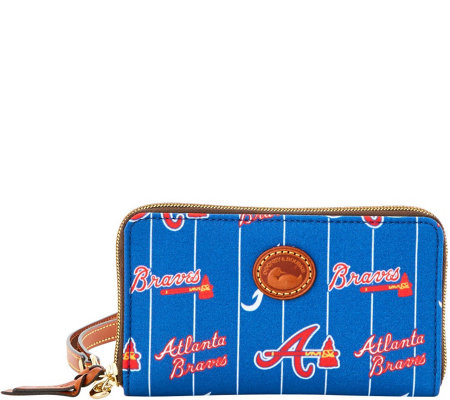 Dooney & Bourke MLB Nylon Braves Zip Around Phone Wristlet