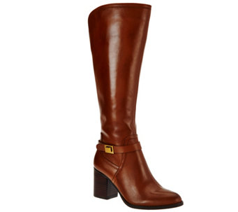 Franco Sarto Leather Medium Calf Tall Shaft Boots - Arlette - A284325