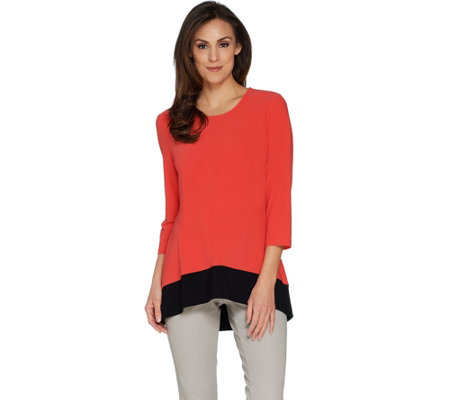 Every Day by Susan Graver Textured Liquid Knit Tunic