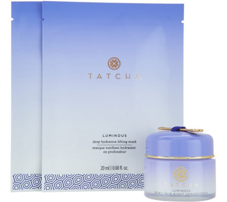 TATCHA Luminous Dewy Skin Night Concentrate & 2 Sheet Masks