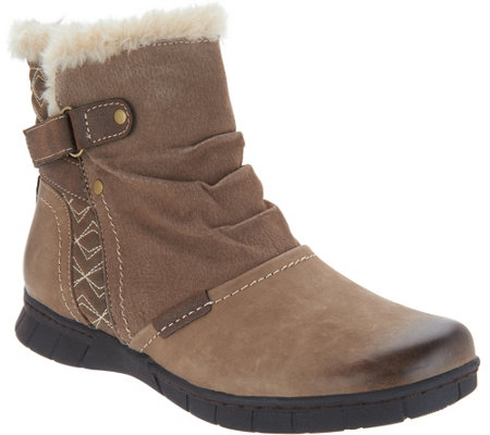 Earth Origins Leather & Suede Ankle Boots - Noreen